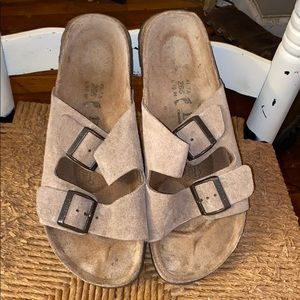 Birkenstock betula tan suede Arizona sandals sz 41